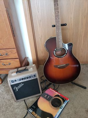 Yamaha acoustic electric guitar set with amp for Sale in Neenah, WI