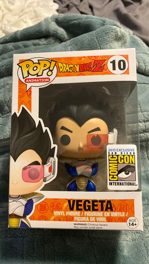 Metallic Vegeta 2015 Comic Con exclusive funko pop mint for Sale in San Jose, CA
