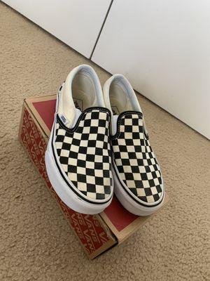Checkered slip on vans for Sale in Manassas, VA