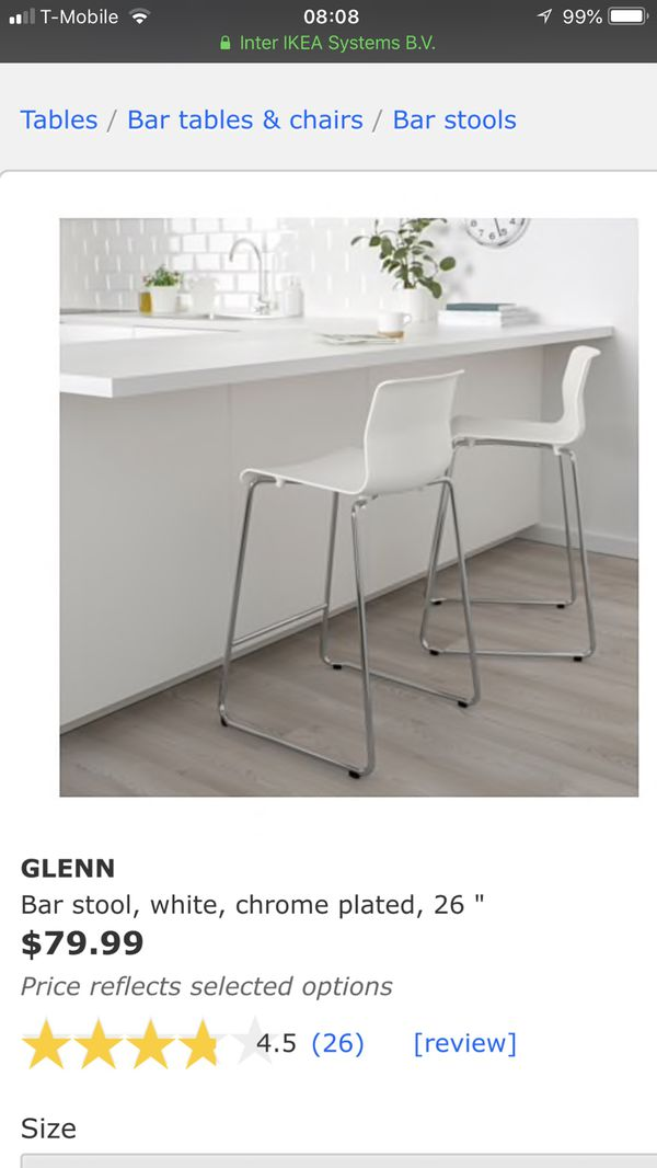 Pleasant Ikea Glenn White Bar Stools Like New For Sale In Los Angeles Gmtry Best Dining Table And Chair Ideas Images Gmtryco