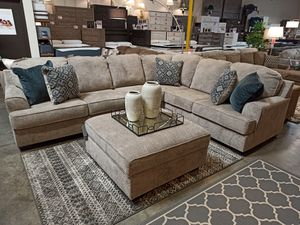 Sectional Sofa with Ottoman, Stone for Sale in Norwalk, CA