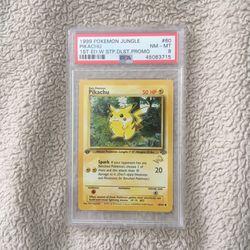 1999 PSA8 Pikachu Jungle 1st Edition W/stamp Pokemon  for Sale in Naples, FL