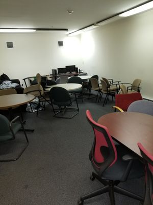 Office Furniture chairs and tables chairs 25 or 35 tables make offer for Sale in Marlborough, MA