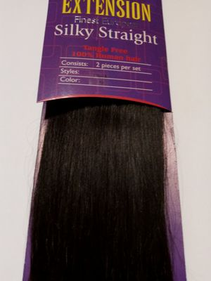 """18"""" ( #2) Two Pieces Set human hair extensions- dark brown- 60 grams ( 2 pieces with clips) for Sale in Downey, CA"""