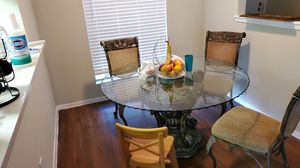 Dining table. Missing 1 chair. 9/10 condition. Asking 180$ need gone asap for Sale in Austin, TX