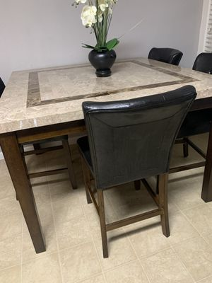 Marble top dining set with 4 chairs for Sale in West Linda, CA