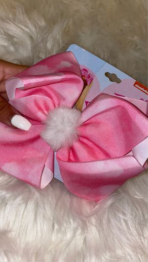 Pink And White Fluffy JOJO SIWA Bow for Sale in Monterey Park, CA