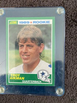 1989 Troy Aikman Score Rookie Football Card #270 HOF Dallas Cowboys for Sale in Fresno, CA