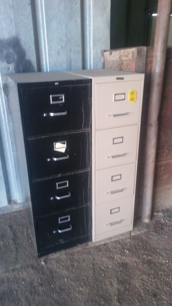 Old metal filing cabinets
