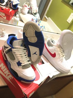 Jordan Motorsport 4/Nike Air Force 1 '07 3 BUNDLE STEAL for Sale in Arlington, TX