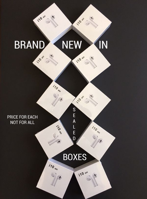 i10 AIR PODS, EARPHONES, EARBUDS (BRAND NEW IN SEALED BOX) COMPATIBLE WITH iPHONE AND ANDROID
