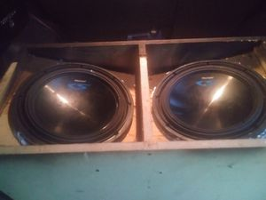Alpine s/w 12s dual voice coils speakers for Sale in Gladewater, TX