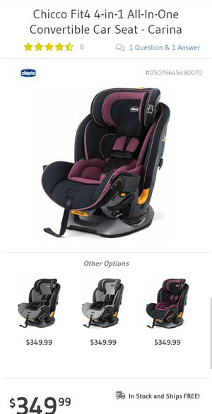 Chicco 4 in 1 Convertible Car Seat for Sale in Grayson, GA