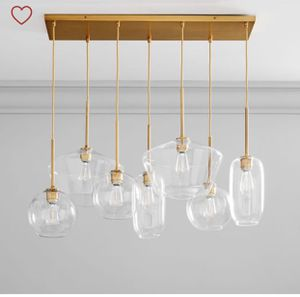 Sculptural Glass 7-Light Multi Chandelier Clear Gold from West Elm for Sale in Miami, FL