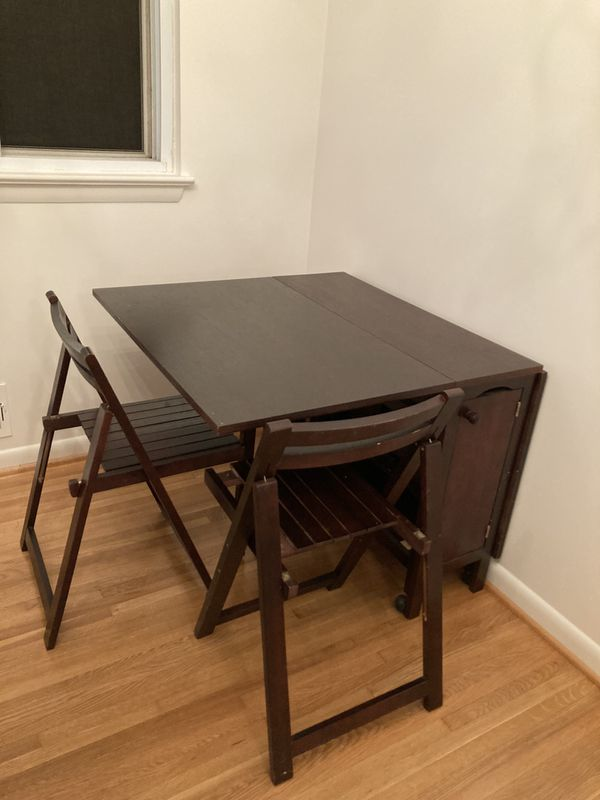 Drop leaf dining set with chairs