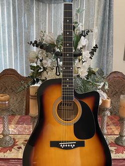 sunburst fever acoustic guitar with metal strings for Sale in Bell,  CA