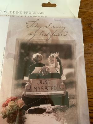 Printable wedding programs for Sale in Chicago, IL