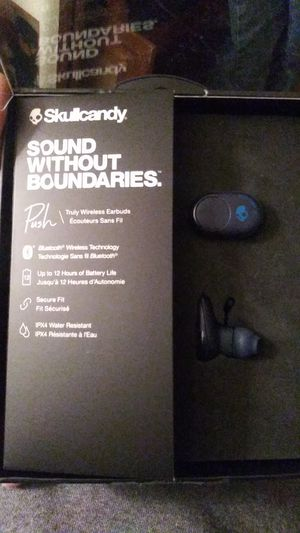 "Skullcandy ""push"" wireless bluetooth headphones (Brand new, still in box, retail for $129.99) for Sale in Oregon City, OR"