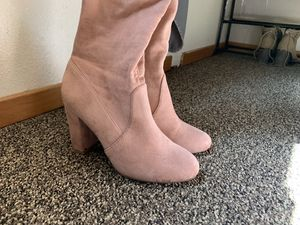 High thigh pink boots size 6 for Sale in Portland, OR