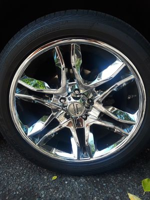 I have 4 practically new all chrome American racing rims that were on a 2010 Dodge journey. for Sale in Seattle, WA