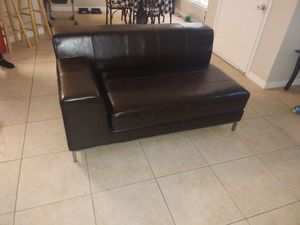 Great condition leather couches comes with small end table for Sale in Azalea Park, FL