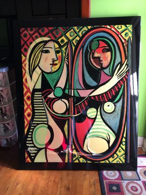 Picasso woman in the mirror painting for Sale in Delray Beach, FL