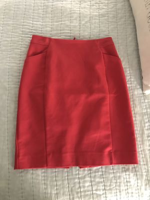 Red pencil skirt, size 2 for Sale in Humble, TX