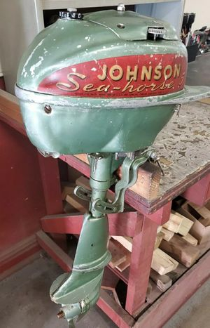 Vintage Johnson 5 HP Seahorse Outboard Motor From 1940s Has Good compression. for Sale in Chicago, IL