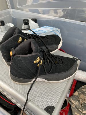 Nike Boys Air Jordan 12 Retro Black Reverse Taxi 153265-017 Size 7Y for Sale in Fort Lauderdale, FL
