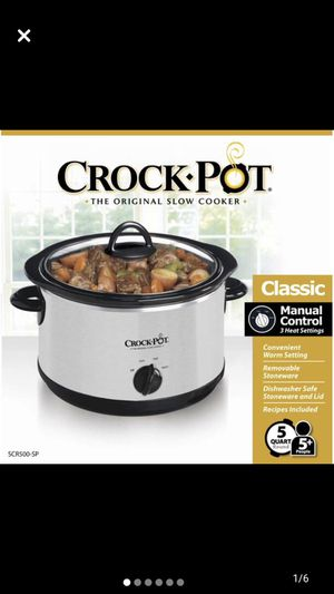 Crockpot, the original slow cooker, 5 quart, Stainless Steel for Sale in Fort Lauderdale, FL