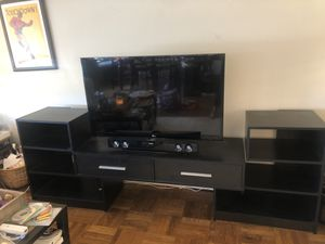 Black Crate and Barrel Media/TV Stand for Sale in Washington, DC