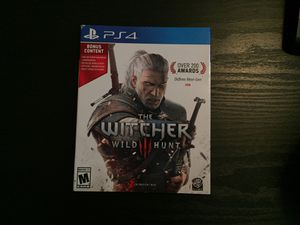 The Witcher Wild Hunt 3 PS4 with Bonus Content for Sale in Tacoma, WA
