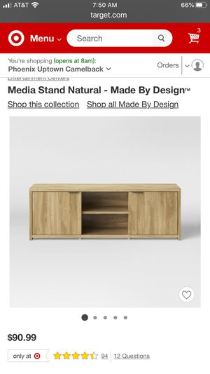 Media stand - natural for Sale in Phoenix, AZ