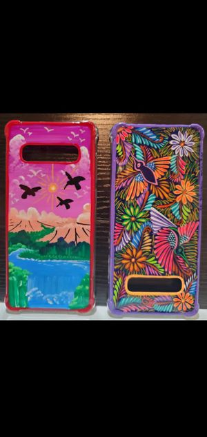HAND PAINTED PHONE CASES FOR SAMSUNG GALAXY S10 for Sale in San Jacinto, CA