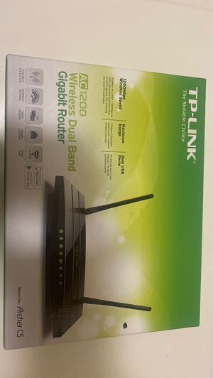 TP-Link AC1200 Wifi Router - Dual Band Router, Fast Ethernet Port(Archer A5) for Sale in San Diego, CA