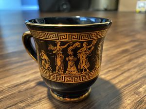 Vintage Tea Cups hand made in greece in 24 k gold Kratimenos. for Sale in Peabody, MA