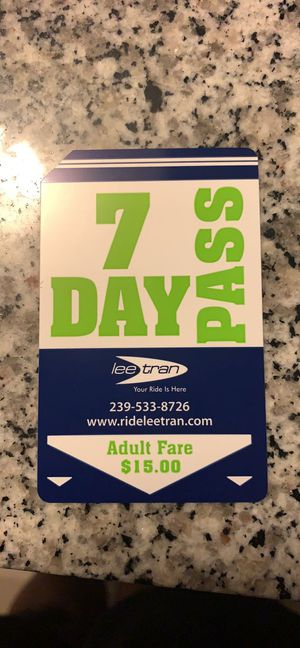 7 Day Bus pass for Sale in Cape Coral, FL