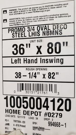 Left hand Inswing door for Sale in Tampa, FL