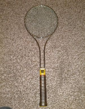 "Vintage Wilson T2000 Tennis Racquet Medium 4-1/2"" Grip Steel Racket with Cover for Sale in North Las Vegas, NV"