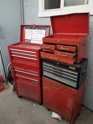 5 tool boxes ,110dlls for all. 5 boxes for Sale in San Diego, CA