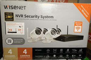 Samsung Wisenet NVR 4 Wireless Security Cameras for Sale in Belleville, IL