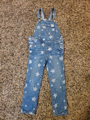 Little girls baby gap star denim overalls size 5t like new condition for Sale in Yorba Linda, CA