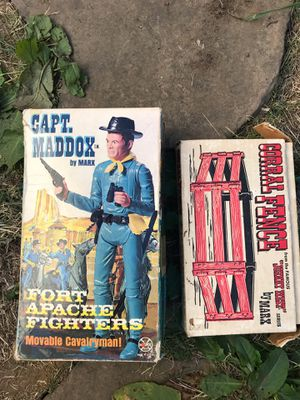 Fort Apache figures captain Mattix by Marks toy company for Sale in Portland, OR