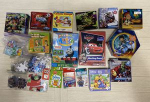 HUGE LOT OF KIDS PUZZLES AND MATCHING GAMES for Sale in Bartlett, IL