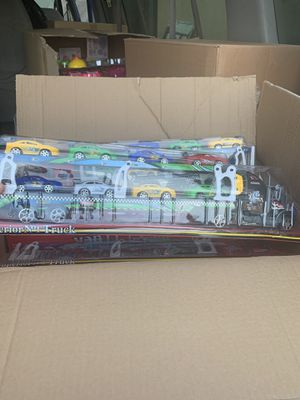New kids trailer toy with cars $12 each for Sale in San Bernardino, CA