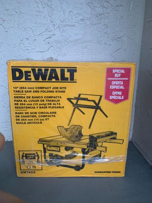 "DEWALT Table Saw 10"" + STAND for Sale in Margate, FL"