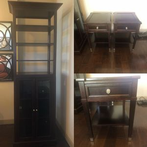 Tall Bookcase and End Tables for Sale in Atlanta, GA