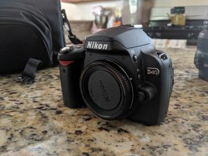Nikon Camera w/ 2 Lenses and Carrying Case for Sale in Rockville, MD