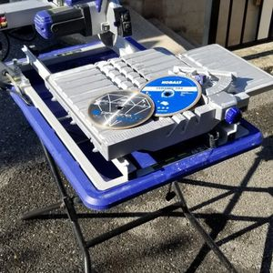 """7"""" Kobalt Wet Tile Saw (3) Blades Great Condition Plus Stand for Sale in Chevy Chase, MD"""