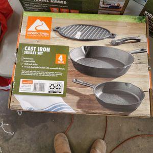 Ozark Trail Cast Iron Skillet Set for Sale in Riverside, CA